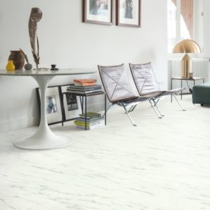 Quick-Step Ambient Click Plus Carrara Marmer Wit